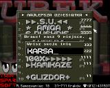 Ubek Amiga High score table + enter zour name