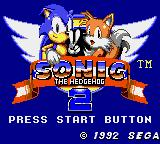 Sonic the Hedgehog 2 Game Gear Title