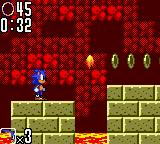Sonic the Hedgehog 2 Game Gear Time your jumps carefully