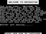 Trouble at Bridgeton ZX Spectrum Oops!