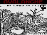 Avalanche: The Struggle for Italy ZX Spectrum Loading Screen