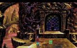 "King's Quest V: Absence Makes the Heart Go Yonder! Amiga The castle entrance - of course Graham can't just ring and say ""Sorry, Mordack, but I believe you have borrowed something without asking""... ;)"