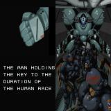 "Genocide 2: Master of the Dark Communion Sharp X68000 ""No Fear come on babe"" on the guy's helmet"