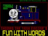 Thomas the Tank Engine's Fun With Words ZX Spectrum Loading Screen