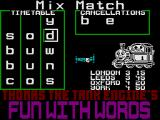 Thomas the Tank Engine's Fun With Words ZX Spectrum Mix and Match