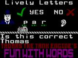 Thomas the Tank Engine's Fun With Words ZX Spectrum Lively Letters