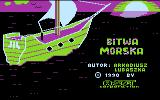 Bitwa Morska Atari 8-bit Title screen