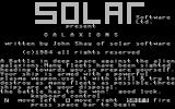 Galaxions Commodore 16, Plus/4 Title Screen