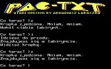 PAC-TXT Atari 8-bit Eating the dot