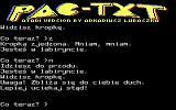 PAC-TXT Atari 8-bit Ghost nearby