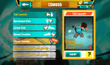 Combo Crew Android The screen where you unlock and buy new combos.