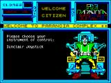 The Paranoia Complex ZX Spectrum Title Screen