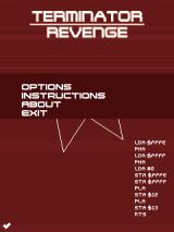 Terminator Revenge J2ME Title screen with options.