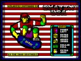 Skatin' USA ZX Spectrum Loading Screen