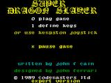 Super Dragon Slayer ZX Spectrum Title Screen