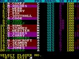 International Football ZX Spectrum Your squad