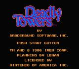 Deadly Towers NES Title screen