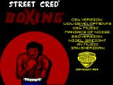 Street Cred Boxing ZX Spectrum Loading Screen