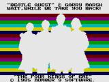 Beatle Quest ZX Spectrum Loading Screen