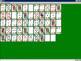 Solitaire King: Maze Windows 3.x This is the layout of the cards for this game