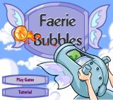 Faerie Bubbles Browser Title screen