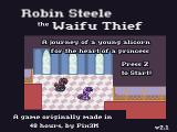 Robin Steele the Waifu Thief Browser Title screen (v2.1)