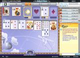 World Class Solitaire Browser Going to use the Grab power-up in order to move the Ace of spades to the foundation pile.