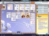 World Class Solitaire Browser Filling up the foundation piles.