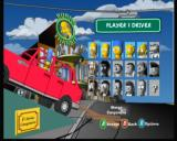 The Simpsons: Road Rage Xbox Selecting a driver to play as.