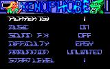 Xenophobe Amstrad CPC Title and main menu