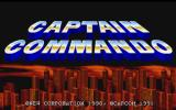 Captain Commando PlayStation Title screen
