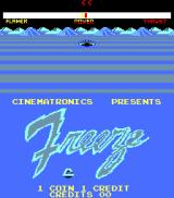 Freeze Arcade Title Screen