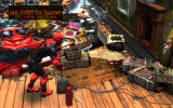 Pinball FX2: Deadpool Windows Deadpool helps launching the ball with dynamite.