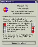MicroBalls Windows The game has simple instructions that explain movement but not capture or strategy