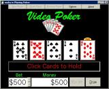 Video Poker Windows The game loads immediately, there is no title screen.
