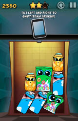 Bag It! Android The game explains how you can move the device to shift the items around.