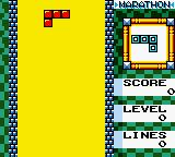 "Tetris DX Game Boy Color The ""Marathon"" game begins."