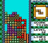 "Tetris DX Game Boy Color It is about to clear a ""Tetris""..."