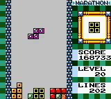 "Tetris DX Game Boy Color I have normally reached ""Level 20"" during the Marathon!"