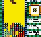 Tetris DX Game Boy Color I would have had time to clear those lines as time is up.