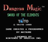 Dungeon Magic: Sword of the Elements NES Title screen