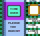 Tetris DX Game Boy Color Overtime or Time Over?
