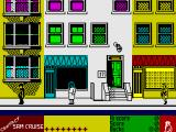 Contact Sam Cruise ZX Spectrum Outside on the street