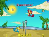 "Mynci Beach Volleyball Browser The ""Superjump"" powerup ultimately isn't that useful, as you take a longer time to get back to the ground"