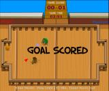Deckball Browser A goal scored (in Time mode). Flags rise out from near the goal.