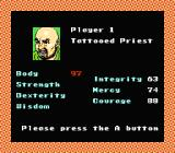 Bandit Kings of Ancient China NES Assigning parameters