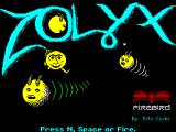Zolyx ZX Spectrum Title Screen