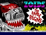 Zoids ZX Spectrum Loading Screen