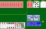 Cribbage King / Gin King Amiga Gin King game in progress