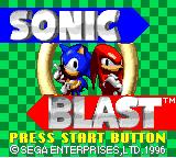 Sonic Blast Game Gear Title